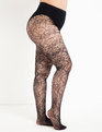 Floral Lace Tight Black