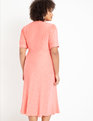 Textured Midi Dress Pink Salmon