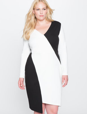 Colorblock Asymmetrical Dress
