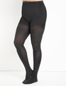 Two Tone Animal Tights Black