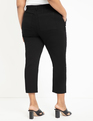 Embroidered Straight Leg Jean Totally Black