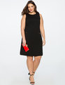 9-to-5 Sleeveless Stretch Work Dress Totally Black