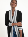 Colorblock Cardigan Black w/Heather Grey