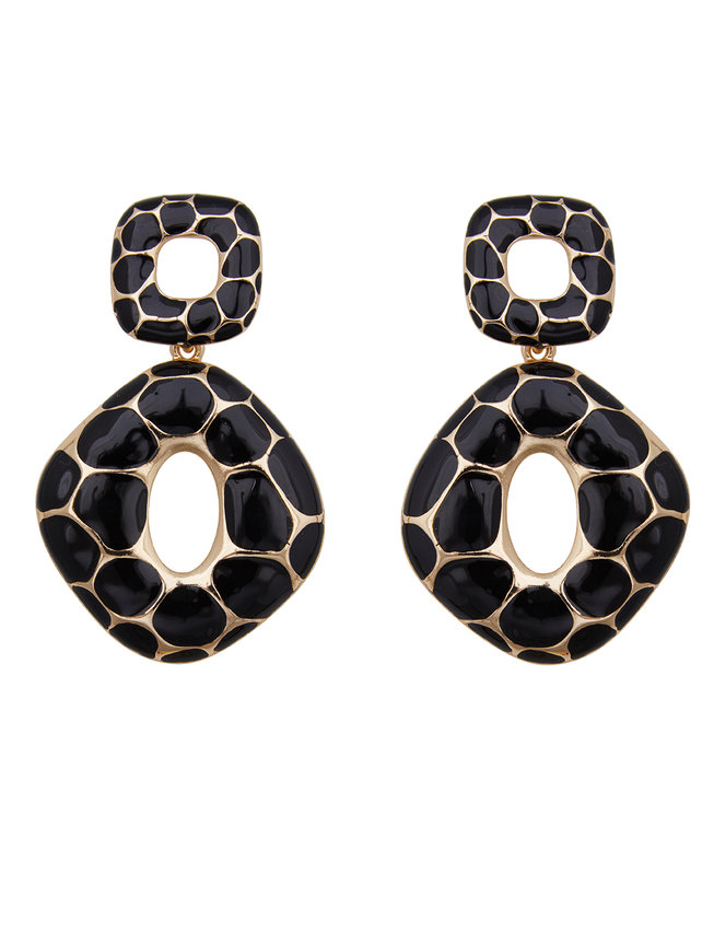 Enamel Statement Earrings