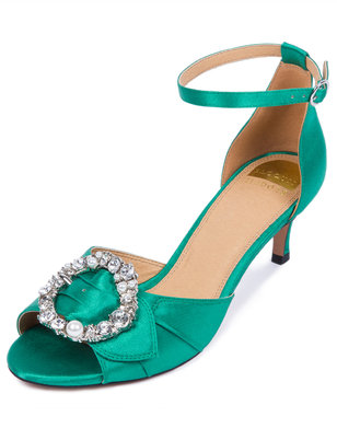 Leah Jeweled Kitten Heel