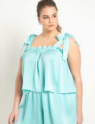 Trapeze Top with Tie Shoulder
