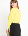 V Neck + Back Sweater Citron