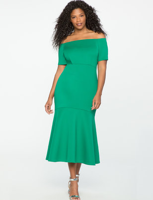 Off the Shoulder Trumpet Gown