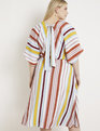 Striped Dolman Sleeve Dress Tropical Sunrise Stripe