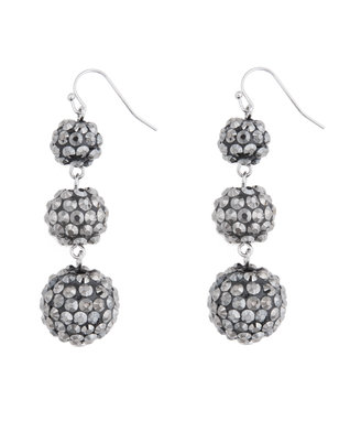 Graduated Faceted Ball Earrings