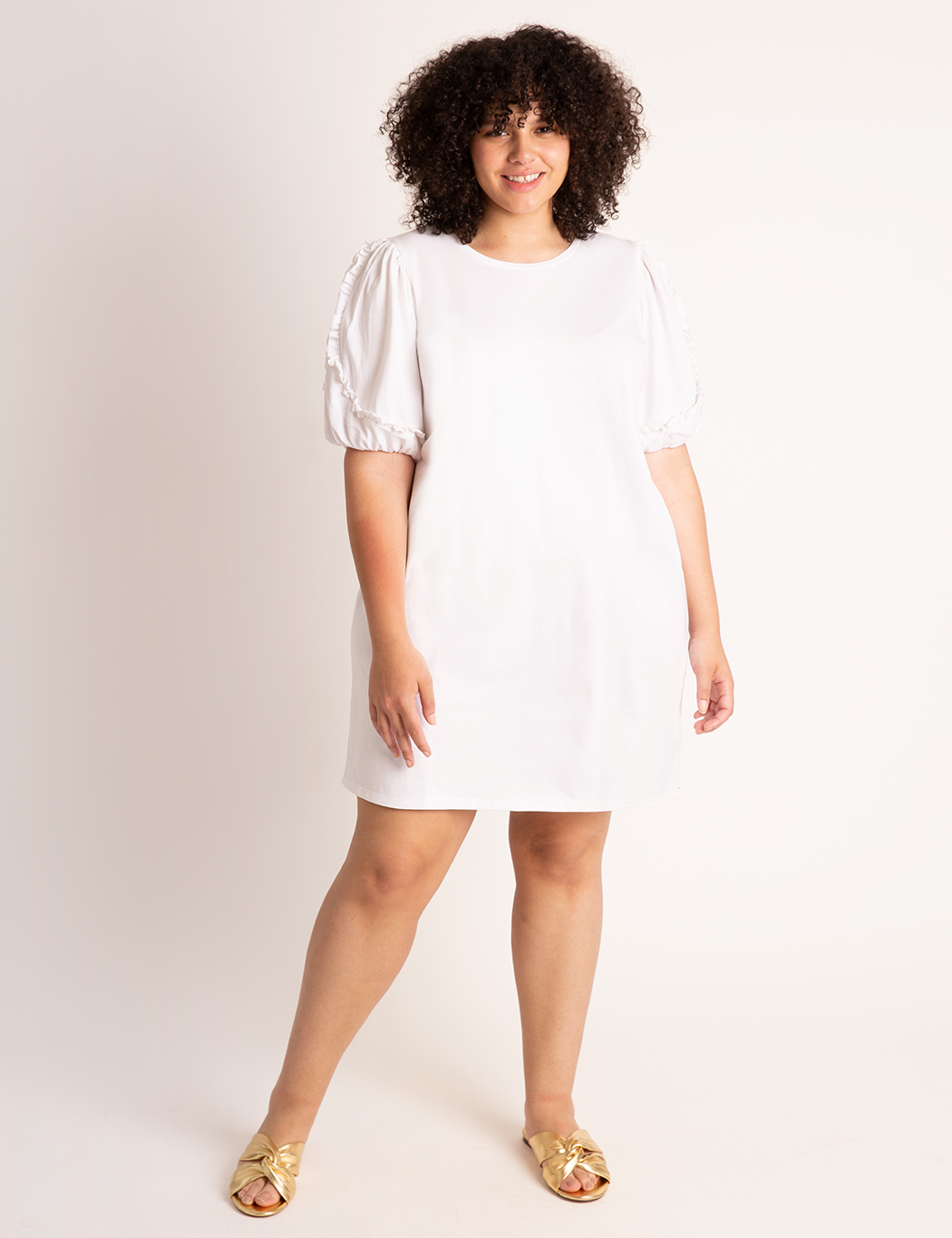 Puff Sleeve Easy Dress 8