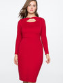 Twist Front Dress CABERNET