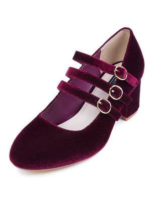 Mary Jane Buckle Heel