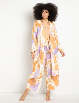 Printed Long Duster