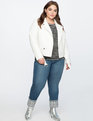 Belted Moto Jacket Soft White