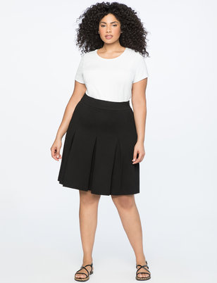 A-Line Skirt with Pleats