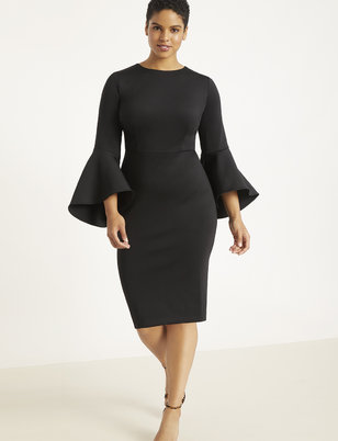Flare Sleeve Scuba Dress  sc 1 st  Plus Size Dresses | ELOQUII & Plus Size Dresses | ELOQUII