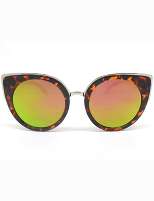 Cat Eye Sunglasses with Mirrored Frame