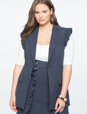 Ruffle Shoulder Vest