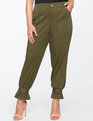 Cinched Ankle Chino Olive