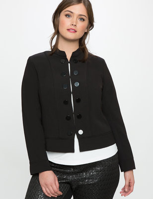 Button Detail Military Jacket