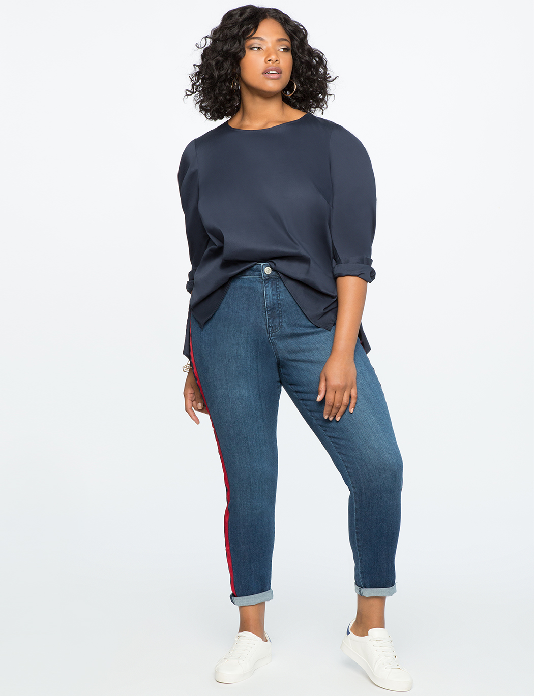 Pleated Puff Sleeve Top Blouse