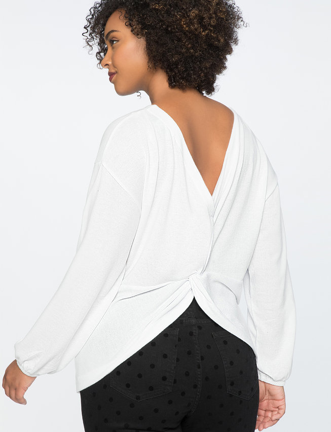 Twist Back Top