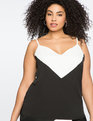 Colorblock Cami TRUE WHITE/TOTALLY BLACK