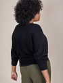ELOQUII Elements Cropped Sweater Black