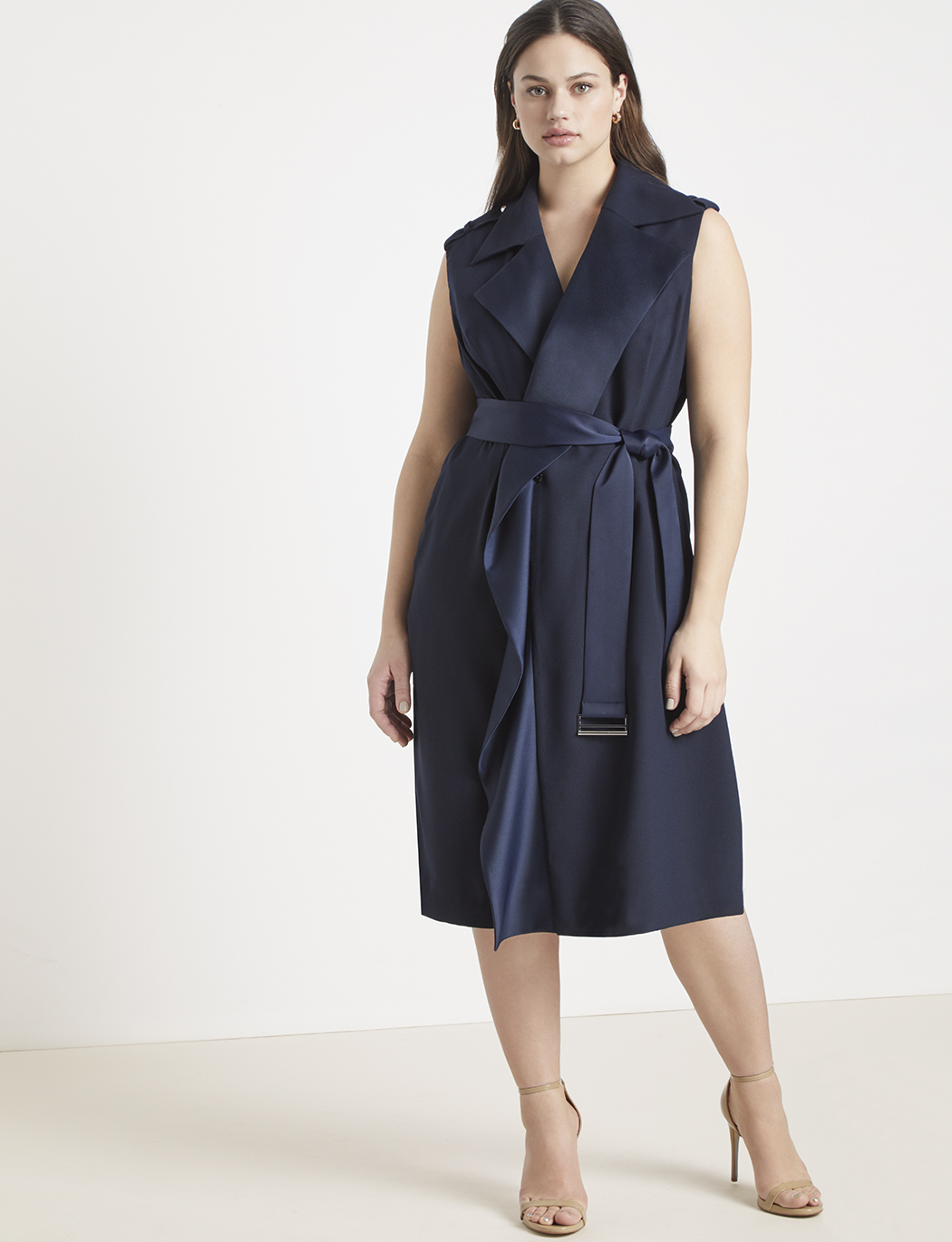 Jason Wu/ELOQUII Sleeveless Trench Dress