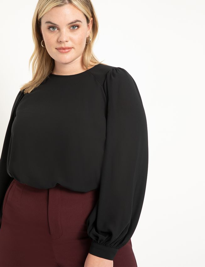 Blouse with Raglan Detail