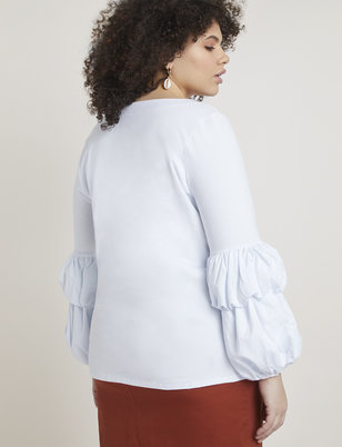 Tiered Puff Sleeve Top