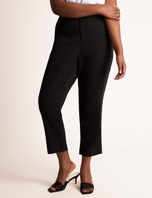 High Waisted Tapered Leg Trouser