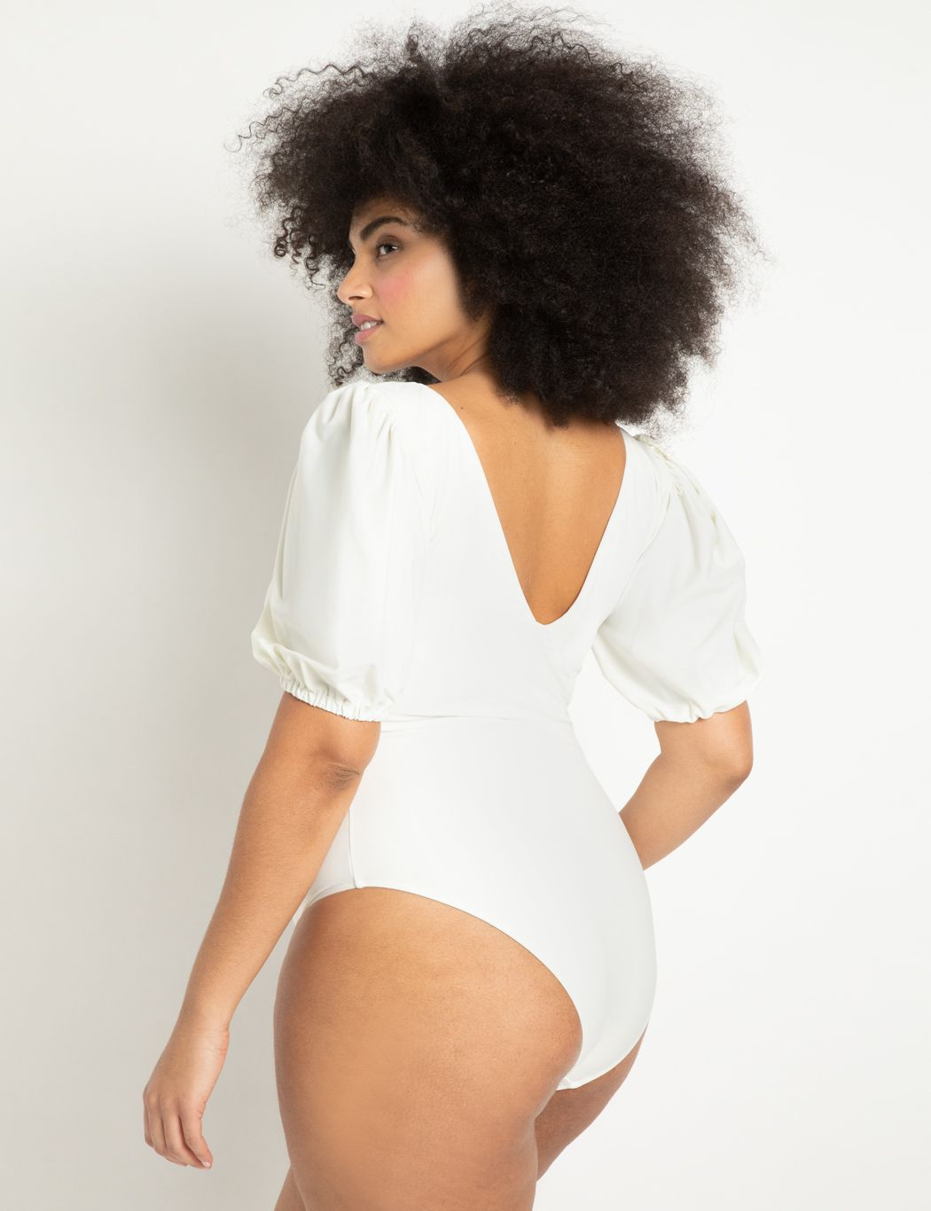Puff Sleeve Swimsuit