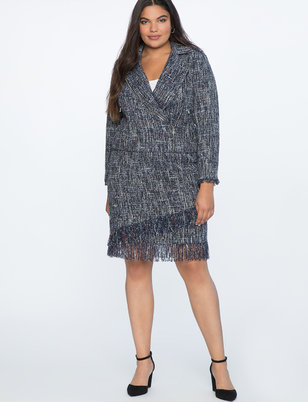 Fringed Tweed Skirt