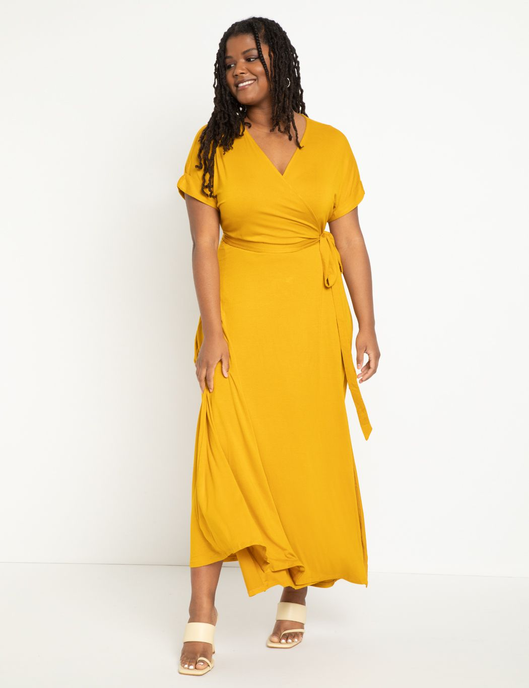 Maxi Wrap Dress | Women\'s Plus Size Dresses | ELOQUII