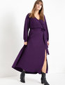 Wrap Maxi Dress Deep Mulberry