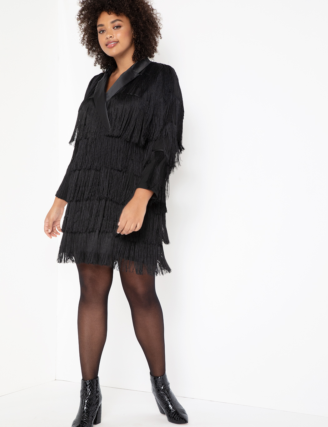 Fringe Blazer Dress