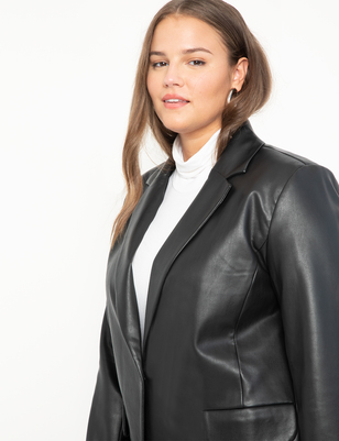 Menswear Vegan Leather Blazer