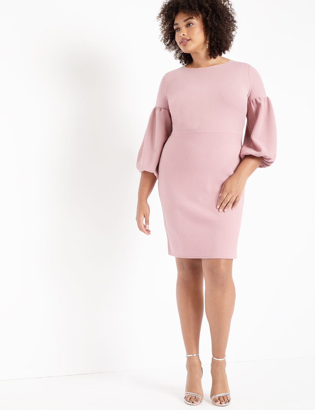 ae45cbe34a Puff Sleeve Bodycon Dress | Women's Plus Size Dresses | ELOQUII
