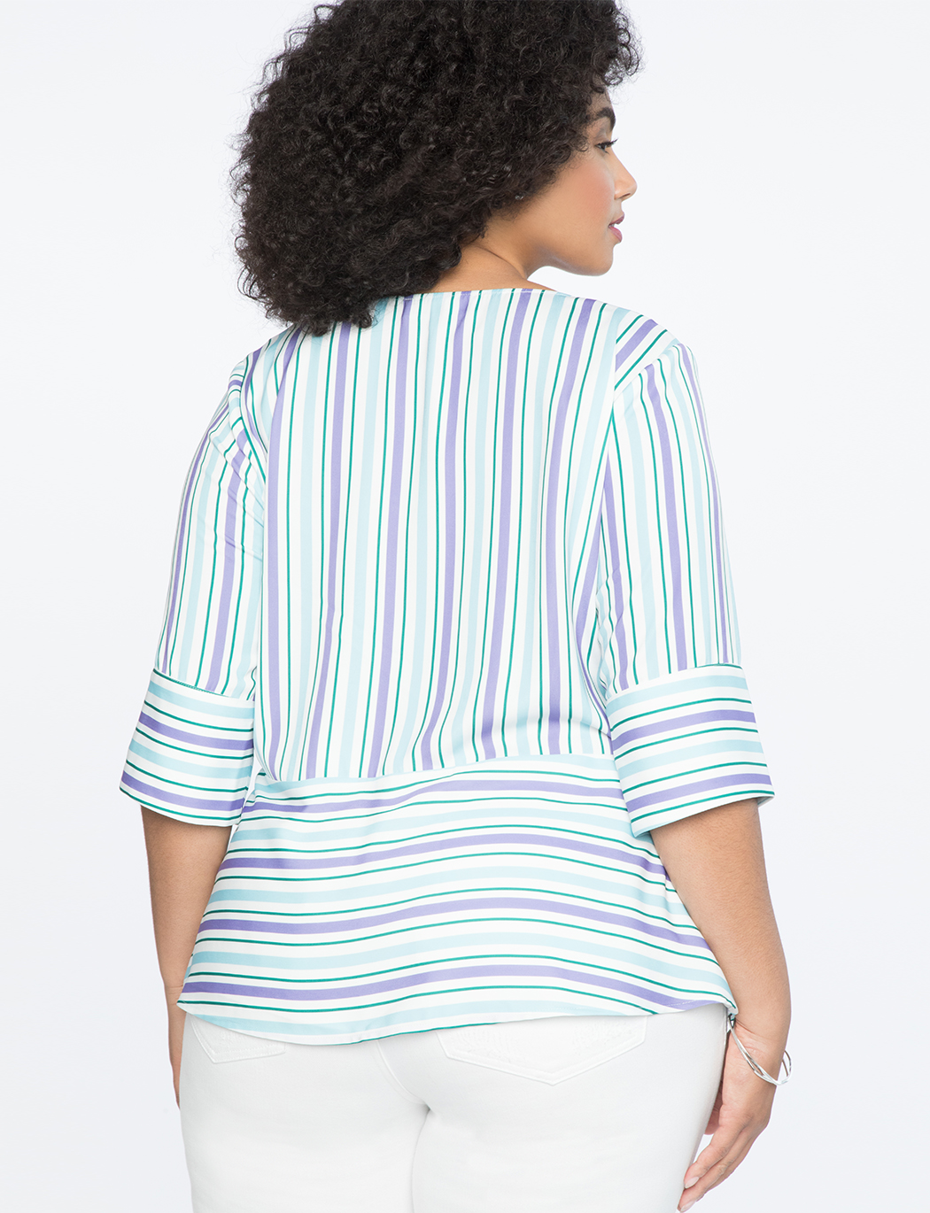 Striped Top with Asymmetrical Hem