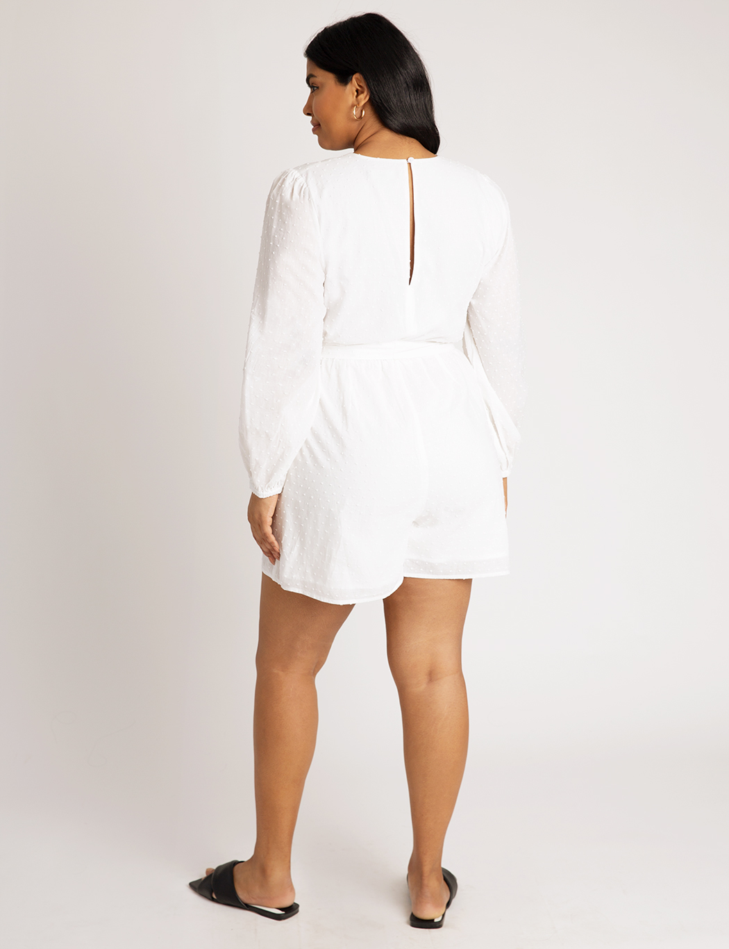 Romper with Puff Sleeves
