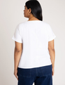 Rolled Cuff Easy Tee Soft White