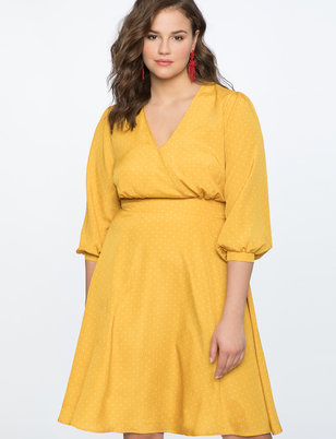 Dot Dress with Puff Sleeve