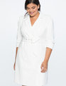Puff Sleeve Blazer Dress Soft White