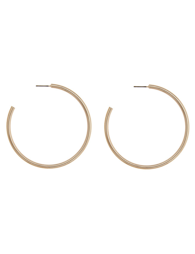 Open Back Hoop Earrings