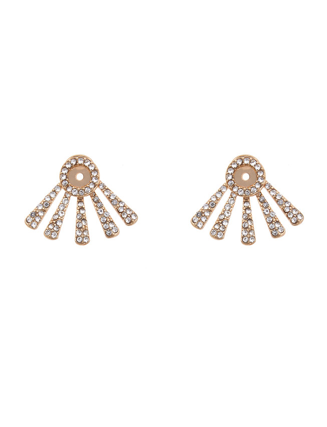 Embellished Ear Jacket Earrings