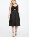 Button Front Bandeau Dress Black