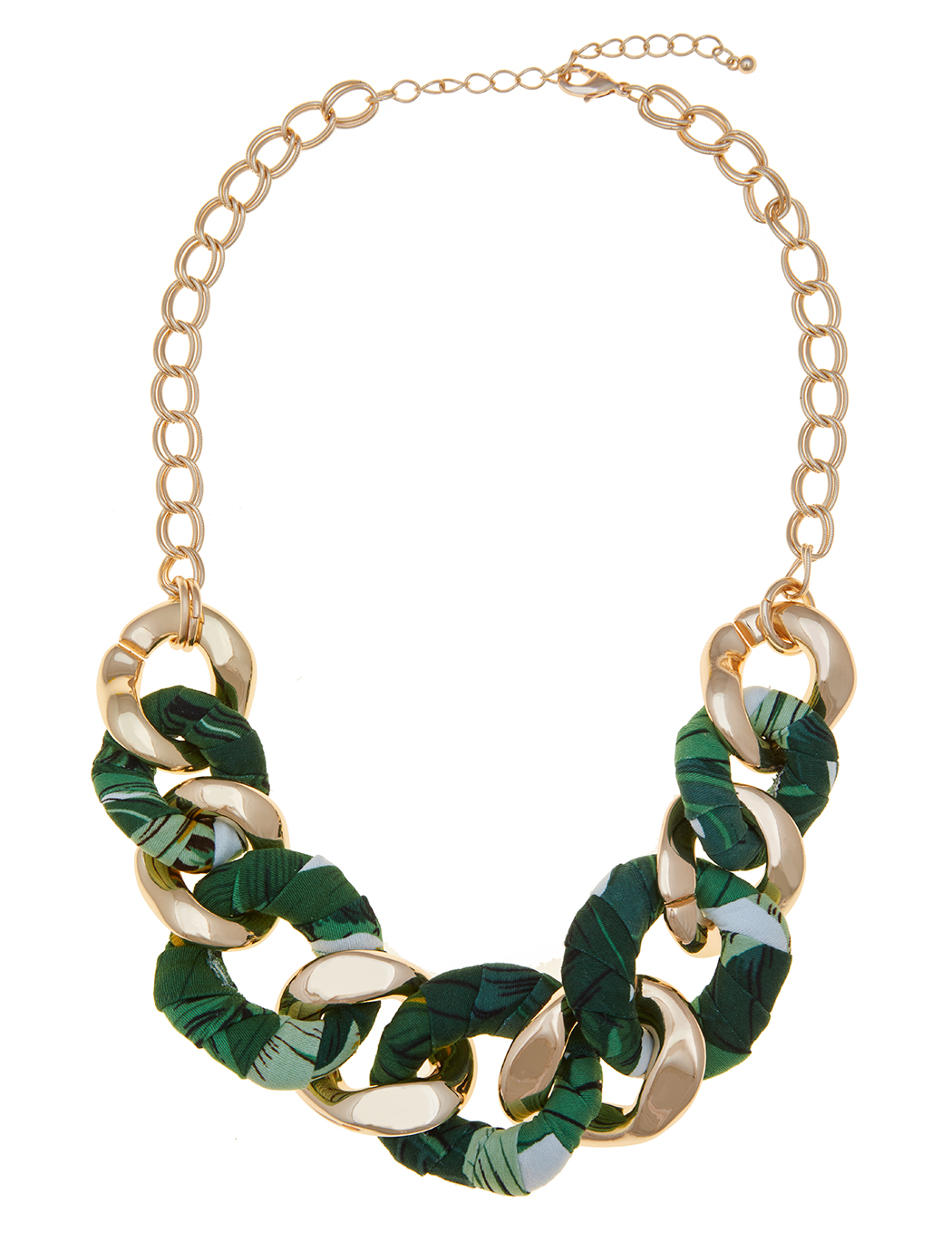 Fabric Chain Statement Necklace