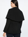 Peplum Cape Jacket Totally Black